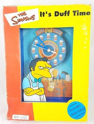 The Simpsons MOE'S TAVERN Battery Operated Clock IT'S DUFF TIME Beer