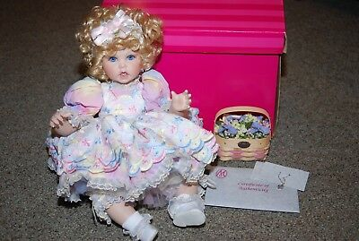 "Marie Osmond ""Basket & Blooms Baby"" Porcelain Doll"
