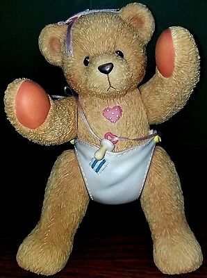VERY RARE NEW Cherished Teddies - 699322 - Baby Girl - Jointed - Musical