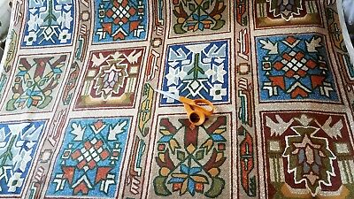 Riverdale Fabric Upholstery Drapery BTY Screenprint Aztec South West VTG 1975
