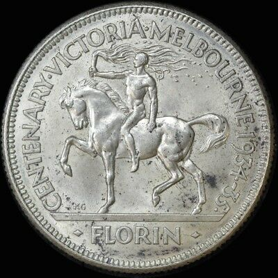 1934/5 Florin Melbourne Centenary good EF