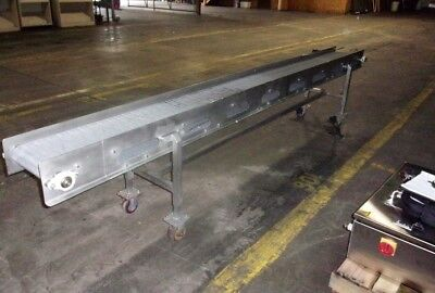 Grey Intralox 12 Inch X 12 Foot Stainless Steel Sanitary Conveyor