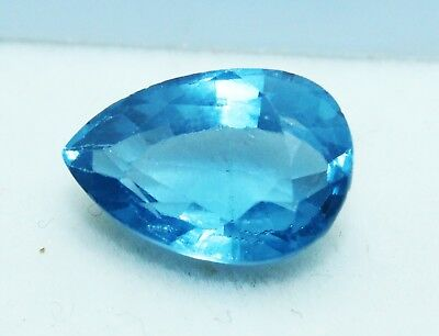 8.25  CT Pear Shape Natural Aquamarine  Ocean Blue Transparent GGL certified Gem