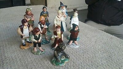 Full Set Of 12 Middle Earth The Lord of the Rings Royal Doulton Figurines 79-81