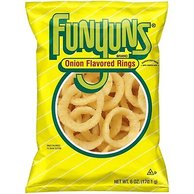 New Sealed Funyuns 6 Oz Onion Flavored Rings Free Worldwide Shipping