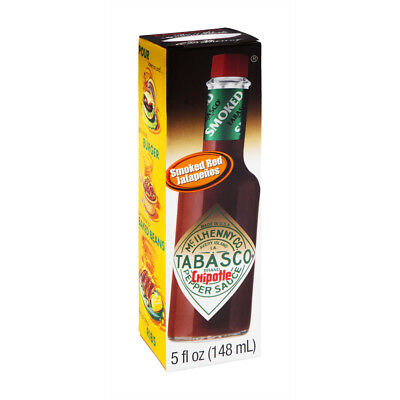 New Tabasco Chipotle Flavor Pepper Sauce 5 Fl Oz Smoked Red Jalapenos Free Ship