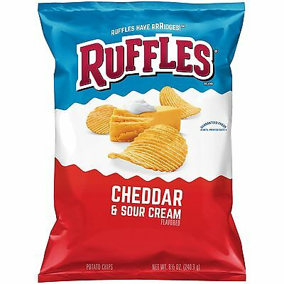 New Sealed Ruffles Cheddar & Sour Cream Flavored Chips 8.5 Oz