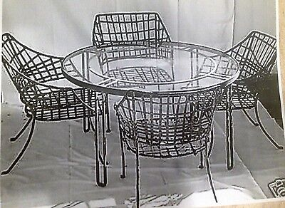 "Vintage Brown Jordan Patio Dining Set, Steel, Mid Century Modern ""Classic"" Line"