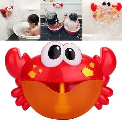 Crab Bubble Maker Automated Spout Musical Bubble Machine Bath Kids Fun Toy New