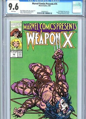 Marvel Comics Presents #75 CGC 9.6 White Pages Wolverine Marvel Comics 1991