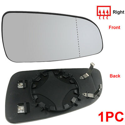 For Vauxhall Astra H 04-08 Driver Side Right Hand Heated Door Wing Mirror Glass