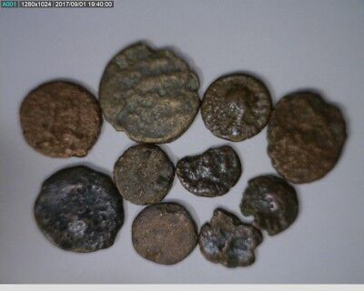 10 Ancient Coins Roman or Other ( Lot 1 )