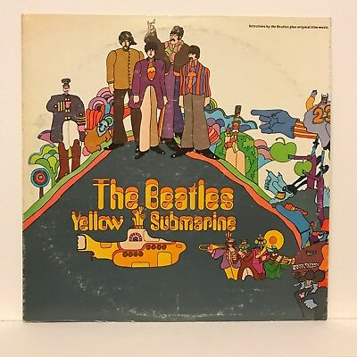 The Beatles Yellow Submarine Stereo Lp Vinyl Record Capitol Sw-153 Used