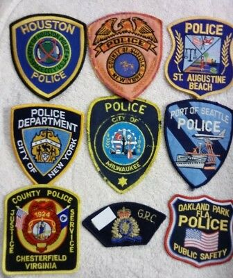 "LOT🎁of Various Embroidered Official ""Police"" Patches"