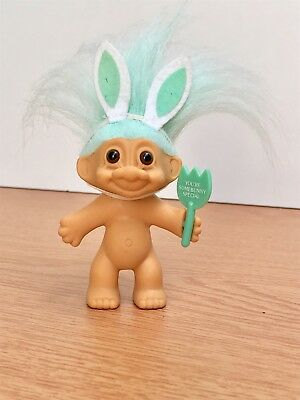 "Vintage Russ Troll Doll 1990s Collectable You're Somebunny Special 3"" Tall"