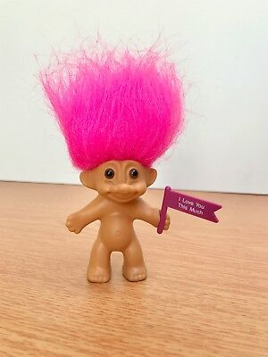 "Vintage Russ Troll Doll 1990s Collectable I Love You This Much 3"" Tall"