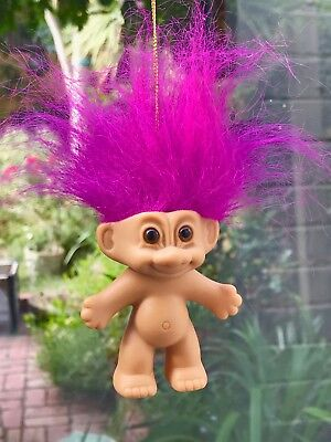 Vintage Russ Troll Doll 1990s Collectable Hanging Suction Cup Troll Doll