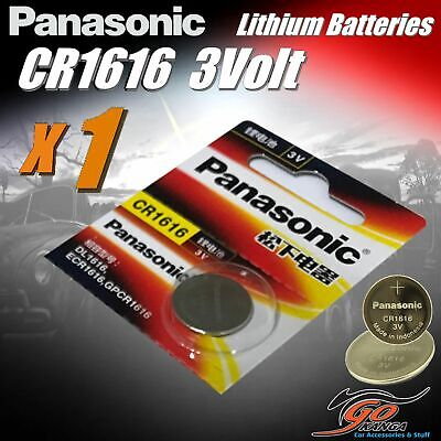 1 x CR1616 Genuine Panasonic 3v Lithium Coin Button Cell Battery Aus Stock 65mAh