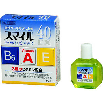 LION  Smile 40 EX Eye Drops 15ml lotion Vitamin Japan F/S