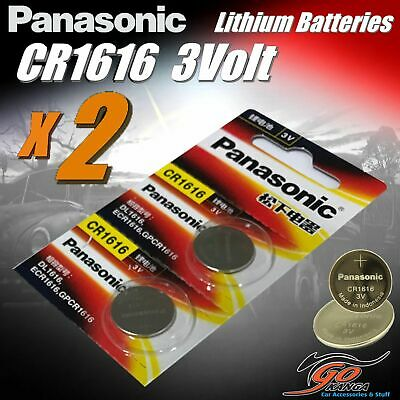 2 x CR1616 Genuine Panasonic 3v Lithium Coin Button Cell Battery Aus Stock 65mAh