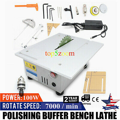 New Benchtop Table Saw Cutting Polishing Carving Machine Woodworking Portable T5