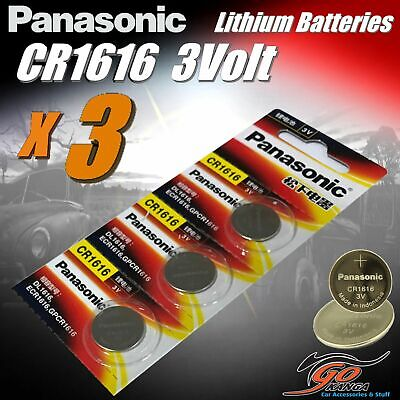 3 x CR1616 Genuine Panasonic 3v Lithium Coin Button Cell Battery Aus Stock 65mA