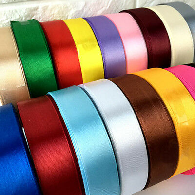 25 Yard SATIN RIBBON Roll 20/40mm Single Sided Craft Wedding Party Gift Wrapping
