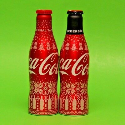 2019 Coca Cola Turkey Empty Aluminium Turkish Bottle Christmas New Year Set