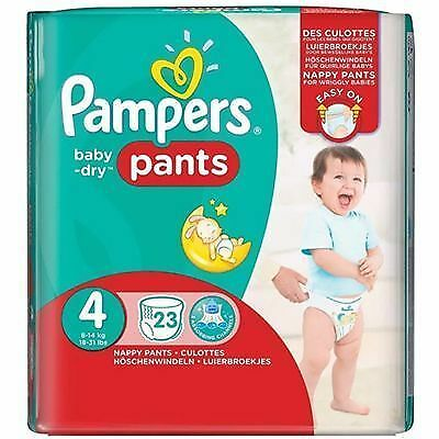 PAMPERS Baby Dry Pants 8-14kg Taille 4 - 23 couches-culottes