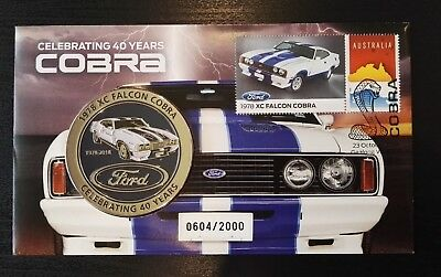1978 XC Falcon Cobra 40 Years Stamp and Medallion Cover - Limited to 2000