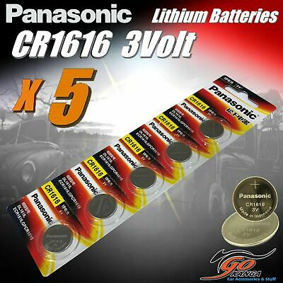 5 x CR1616 Genuine Panasonic 3v Lithium Coin Button Cell Battery Aus Stock 65mA