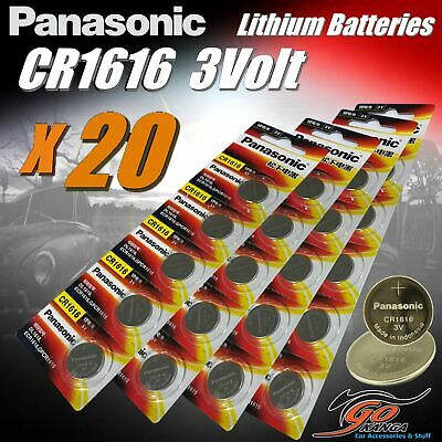 20 x CR1616 Genuine Panasonic 3v Lithium Coin Button Cell Battery Aus Stock 65mA