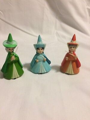 Disney Sleeping Beauty Fairy Godmother's Flora, Fauna, & Merryweather Figurines