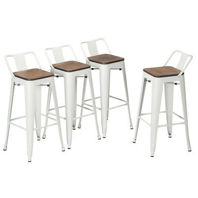 Remarkable 4 30 Metal Bar Stool Counter Height Barstool Low Back Andrewgaddart Wooden Chair Designs For Living Room Andrewgaddartcom