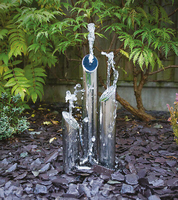 Stunning POLISHED Stainless Steel Triple Tube Water Feature inc. PUMP & FITTINGS