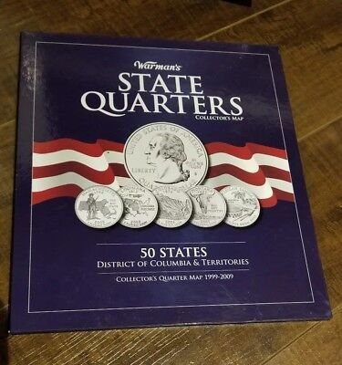 Warman's Complete 56 coin State & Territory Quarter Map Album Quarters Set