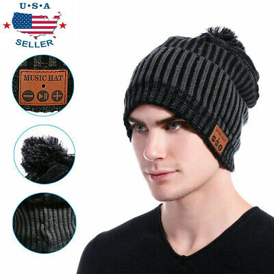 Bluetooth Beanie Hat Wireless Warm Music Smart Cap Headset Headphone Speaker Mic