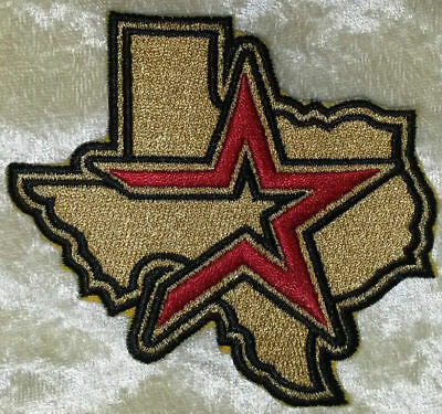"""Houston Astros Texas State 3.5"""" Iron /Sew On Embroidered Patch~FREE Ship!"""