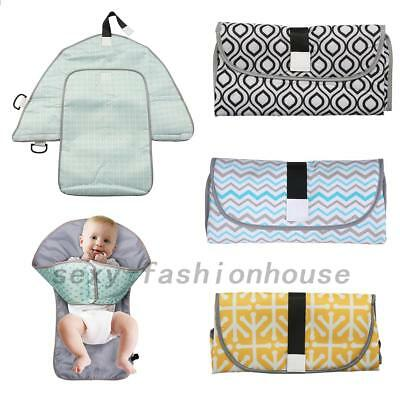 Waterproof Baby Diaper Changing Mat Travel Home Change Pad Organizer Bag AU Post