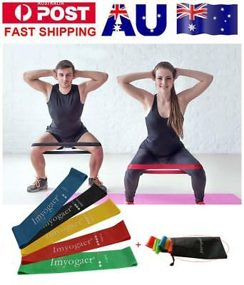 1/5pcs Yoga Resistance Loops Bands Mini Band Exercise Crossfit Strength Fitness
