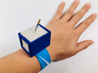 Dental Endo Root Canal Files Stand Holder Blue Wrist Watch 135℃ Sterilize