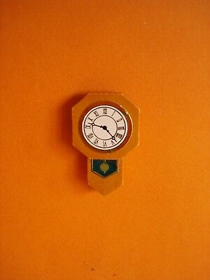 Vintage Dolls House - Wooden Wall Clock - New - Mint Condition - Lundby Scale