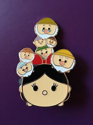 Disney Parks Tsum Tsum Slider Series Snow White And The Seven Dwarfs Trading Pin