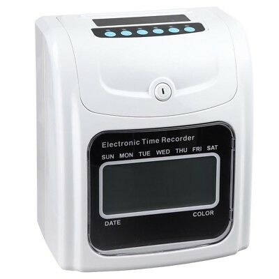 Company Employee Attendance Punch Time Clock Payroll Recorder with 100 Cards