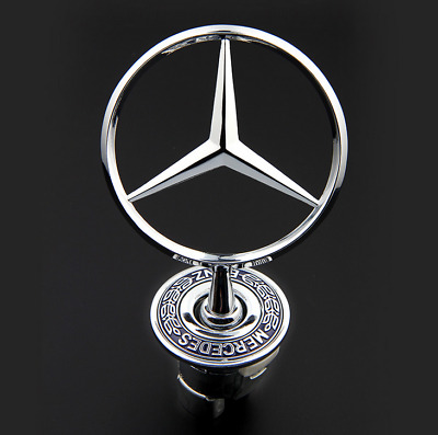 Chrome Star Hood Logo Emblem Badge 3D for Mercedes Benz w210 w202 w203 C200 w211