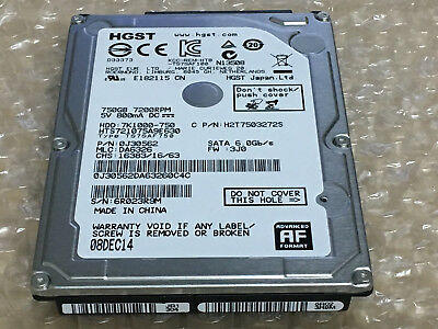 "new HGST 750GB 7200 RPM HTS721075A9E630 2.5""SATA 6.0Gb/s Laptop hard disk drive"