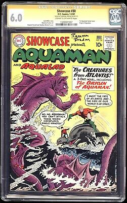 SHOWCASE 30, CGC 6.0 SS SIGNED by RAMONA FRADON! 1st Appearance AQUAMAN tryout