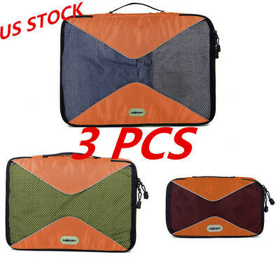 3Pcs Oxford Travel Clothes Storage Bags Luggage Organizer Pouch Packing Cube