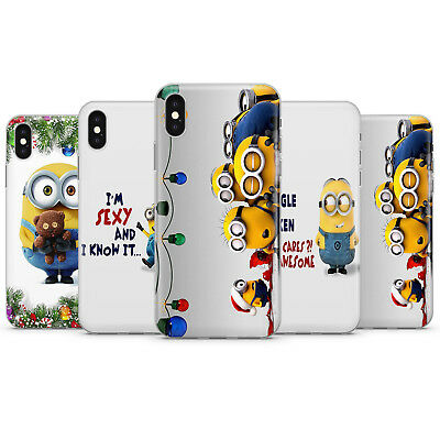 Christmas gifts minions despicable me banana girl boy bear phone case for iPhone