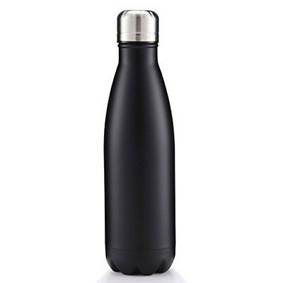 (Black) - Bamyko Water Bottle Double Wall Insulated Stainless Steel Vacuum